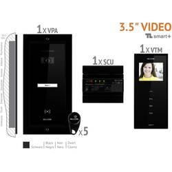 Káblový domové videotelefón Bellcome VKM.P1FR.T3S4.BLB04, čierna