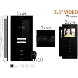 Káblový domové videotelefón Bellcome VKM.P2FR.T3S4.BLB04, čierna