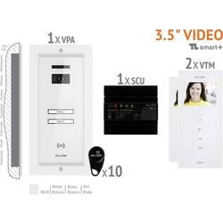 Káblový domové videotelefón Bellcome VKM.P2FR.T3S4.BLW04, biela