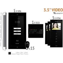 Káblový domové videotelefón Bellcome VKM.P3FR.T3S4.BLB04, čierna