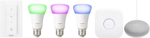 philips lighting hue starterkit e27 10 w rgbw google home mini kaufen. Black Bedroom Furniture Sets. Home Design Ideas