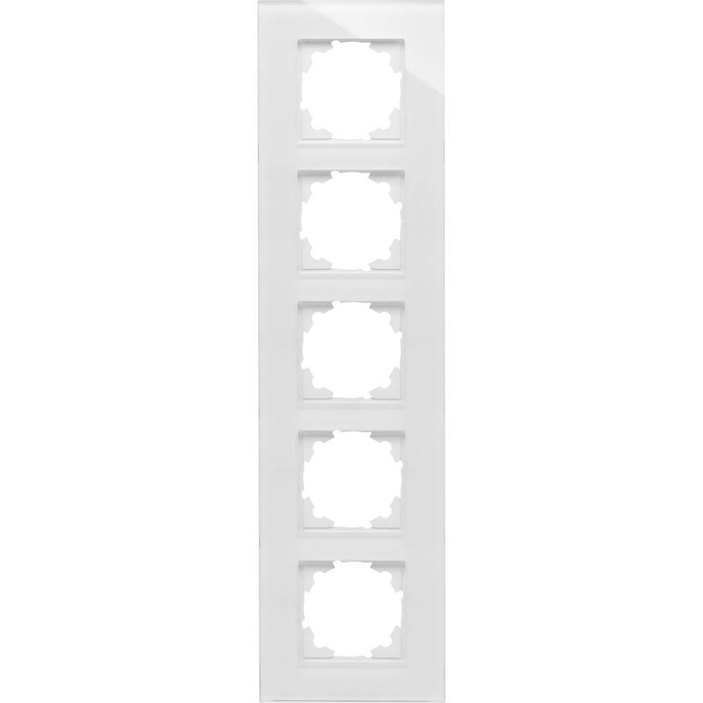 Kopp 5fach Rahmen Abdeckung HK 07, ATHENIS Weiß (glänzend) 406702001 ...