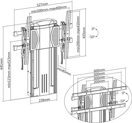 my wall hp 28 l tv wandhalterung 94 0 cm 37 152 4 cm 60 h henverstellbar kaufen. Black Bedroom Furniture Sets. Home Design Ideas