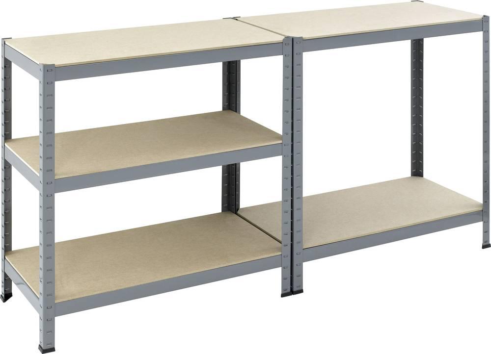 Pro Bau Tec heavy duty shelving w x h 900 mm x 1800 mm powder coated wood pro