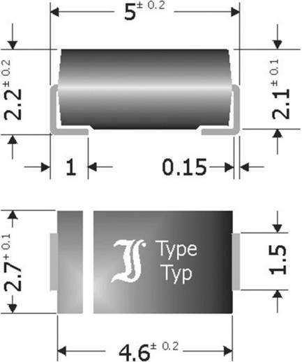 Schottky-Barriere-Gleichrichterdiode Diotec SK34SMA DO-214AC 40 V 3 A