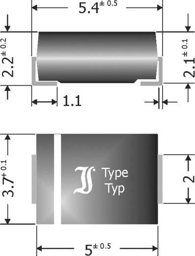 Schottky-Barriere-Gleichrichterdiode Diotec SK54 DO-214AA 40 V 5 A
