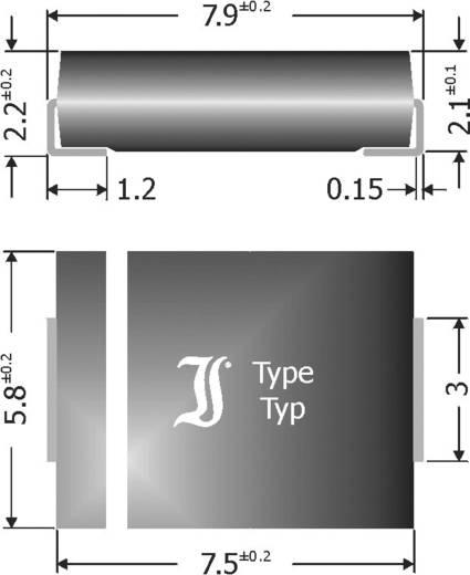 Schottky-Barriere-Gleichrichterdiode Diotec SK84 DO-214AB 40 V 8 A