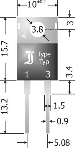 Diode de redressement Schottky barrière TRU COMPONENTS TC-SBT1040 1582002 TO-220AC 40 V 10 A 1 pc(s)