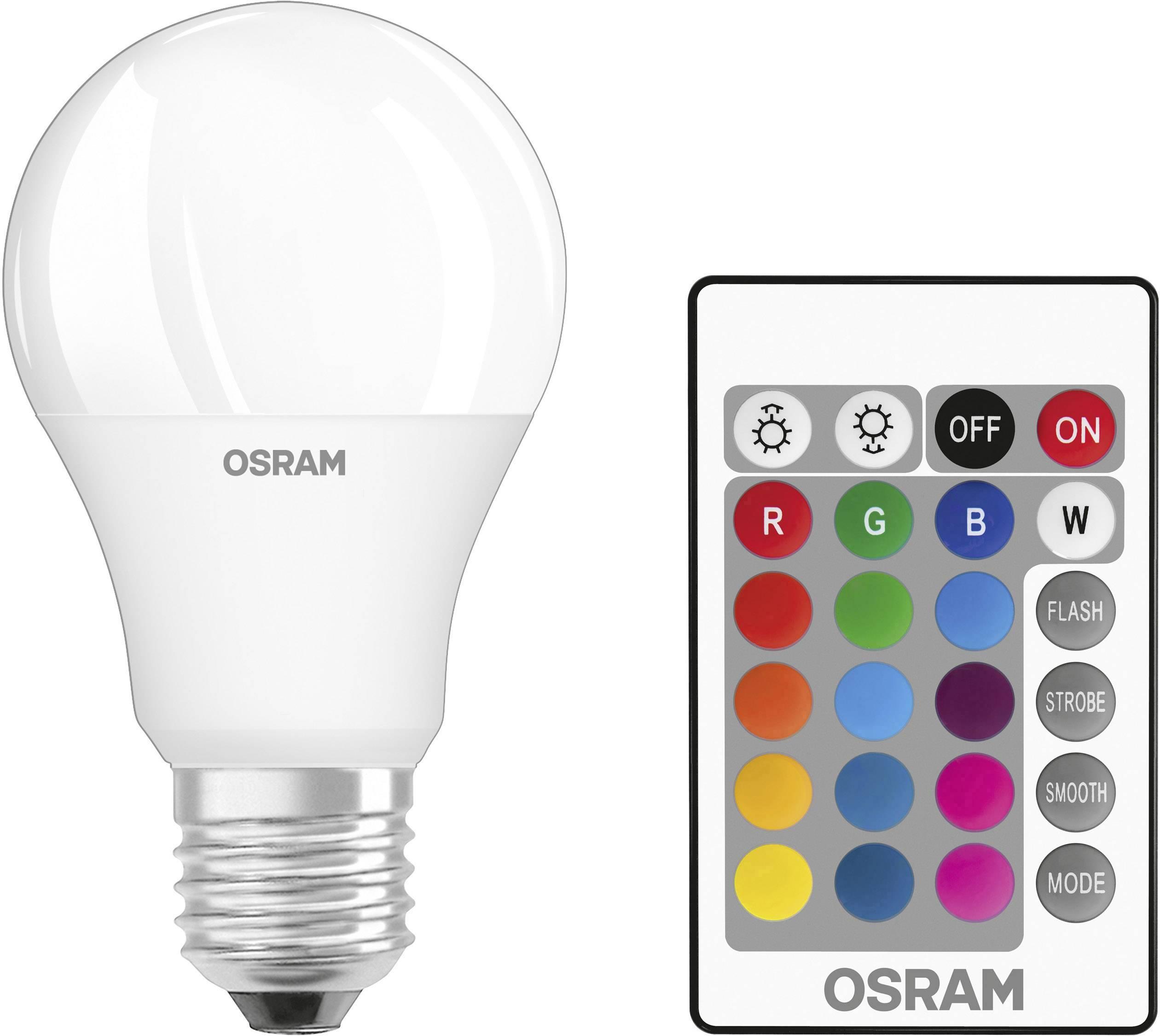 Genial OSRAM LED EEK A+ (A++   E) E27 Glühlampenform 9 W U003d 60 W RGBW (Ø X L) 60 Mm  X 114 Mm Inkl. Fernbedienung, Colorchanging, Kaufen