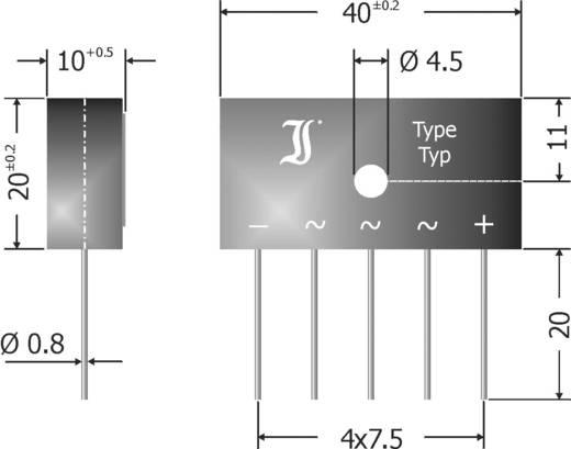 Brückengleichrichter Diotec DBI6-12 SIL-5 1200 V 6 A Dreiphasig