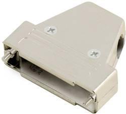 D-SUB púzdro encitech TRI-M-37-K 6550-0100-04, Počet pinov: 37, plast, pokovaný, 180 °, 45 °, 45 °, strieborná, 1 ks