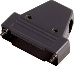 D-SUB púzdro encitech TRI-P-37-K 6550-0101-04, Počet pinov: 37, plast, 180 °, 45 °, 45 °, čierna, 1 ks