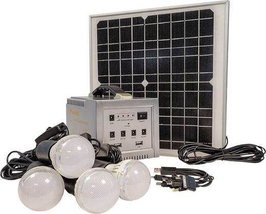 LED SOLARBELEUCHTUNG CAMPING mit bis zu 72 Stunden Leuchtdauer Westech 1986 AT Solar-Set