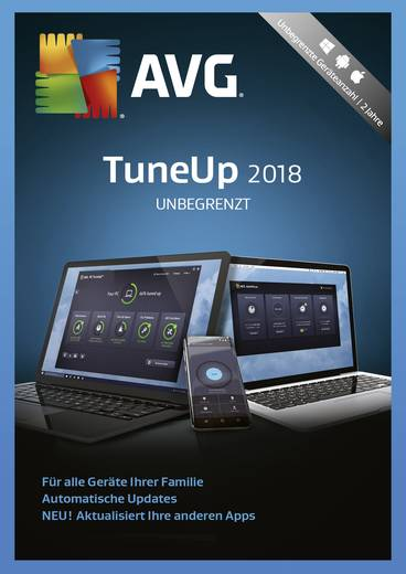 AVG TuneUp Unlimited 2018 Vollversion, unbegrenzte Geräteanzahl Windows, Mac, Android Systemtuning-Software