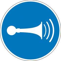 Image of Gebotsschild Akustisches Signal geben Folie selbstklebend (Ø) 100 mm ISO 7010 1 St.