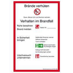 Image of Aushang Brandschutzordnung Teil A Aluminium (B x H) 200 mm x 300 mm 1 St.