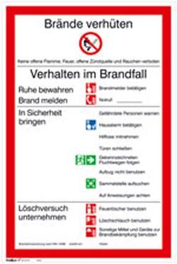 Image of Aushang Brandschutzordnung Teil A Folie selbstklebend (B x H) 200 mm x 300 mm 1 St.