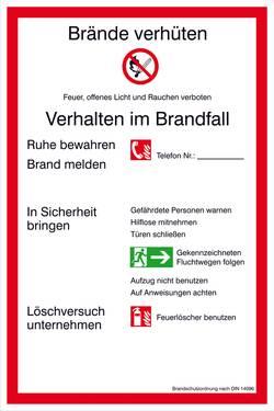Image of Aushang Brandschutzordnung Teil A Kunststoff (B x H) 200 mm x 300 mm 1 St.