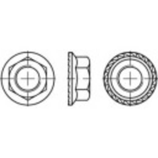 Sechskant-Sperrzahnmuttern mit Flansch M6 Stahl 500 St. TOOLCRAFT 161451