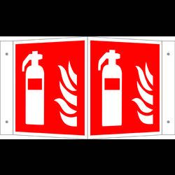 Image of Brandschutzschild Feuerlöscher Aluminium (B x H) 200 mm x 200 mm ISO 7010 1 St.
