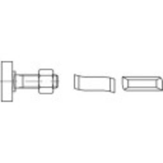 Hammerkopfschrauben M10 80 mm Stahl galvanisch verzinkt 50 St. 161468