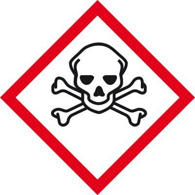 GHS-Gefahrenpiktogramm 06 Totenkopf Folie selbstklebend (B x H) 50 mm x 50 mm 1 St.