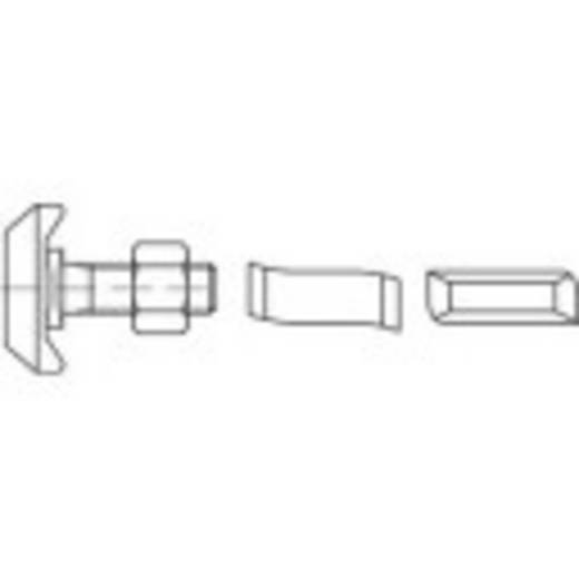 Hammerkopfschrauben M12 50 mm Stahl galvanisch verzinkt 50 St. 161498