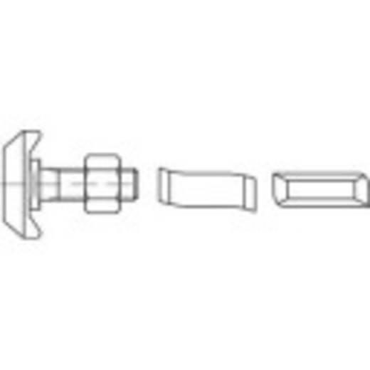 Hammerkopfschrauben M12 80 mm Stahl galvanisch verzinkt 50 St. 161500