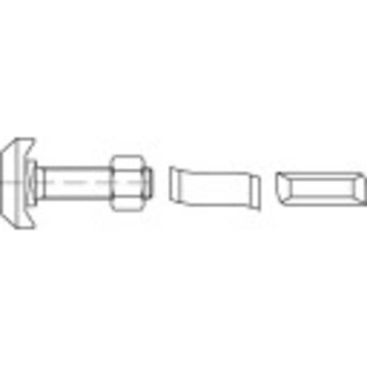 Hammerkopfschrauben M20 45 mm Stahl galvanisch verzinkt 25 St. 161544
