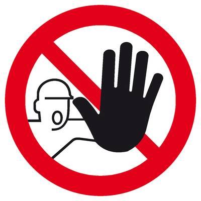 Verbotsschild Zutritt für Unbefugte verboten Aluminium (Ø) 400 mm DIN 4844-2 1 St.