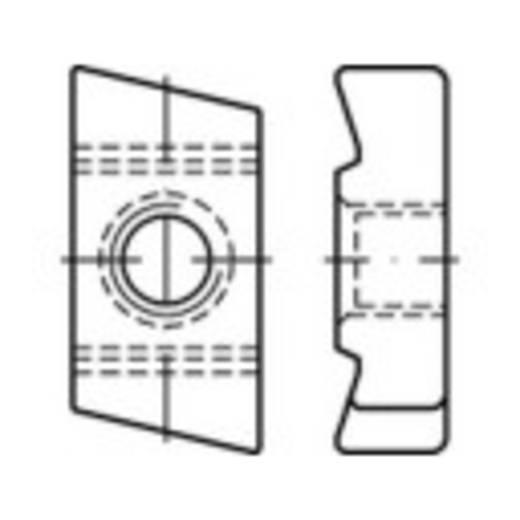 Gewindeplatten für Hammerkopfschrauben M8 Stahl galvanisch verzinkt 100 St. TOOLCRAFT 161568