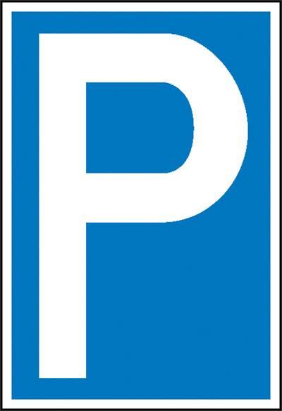 Parkplatzschild Parkplatz f/ür Betriebsangeh/örige aus Kunststoff in verschiedenen Gr/ö/ßen erh/ältlich