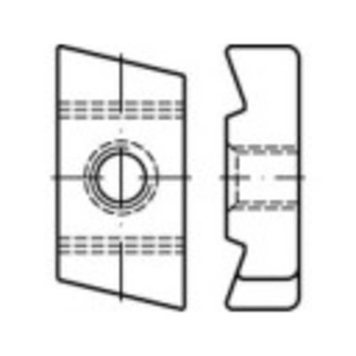 Gewindeplatten für Hammerkopfschrauben M10 Stahl galvanisch verzinkt 50 St. TOOLCRAFT 161572