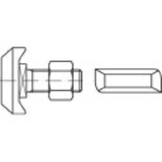 Gewindeplatten für Hammerkopfschrauben M20 Stahl galvanisch verzinkt 15 St. 161579