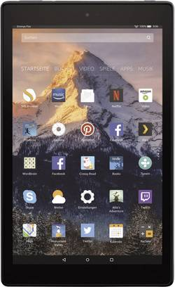 Image of amazon Fire HD 10 32GB mit Alexa Android-Tablet 25.7 cm (10.1 Zoll) 32 GB Schwarz 1920 x 1200 Pixel