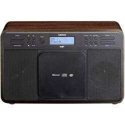 DAB+ stolné rádio Lenco DAR-040, AUX, CD, DAB+, Bluetooth, UKW, USB, vlašský orech