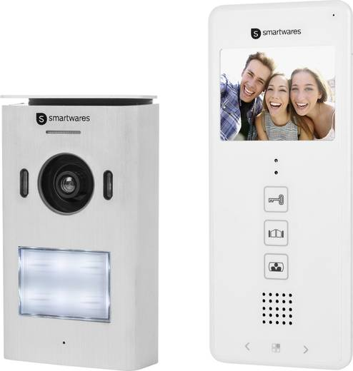 smartwares dic 22112 video t rsprechanlage 2 draht komplett set 1 familienhaus wei kaufen. Black Bedroom Furniture Sets. Home Design Ideas