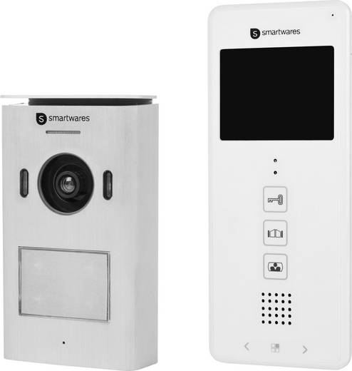 video t rsprechanlage 2 draht komplett set smartwares dic 22112 1 familienhaus wei kaufen. Black Bedroom Furniture Sets. Home Design Ideas