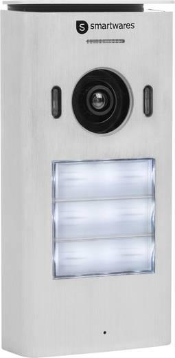 video t rsprechanlage 2 draht komplett set smartwares dic 22132 3 familienhaus wei. Black Bedroom Furniture Sets. Home Design Ideas