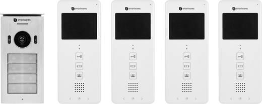 video t rsprechanlage 2 draht komplett set smartwares dic. Black Bedroom Furniture Sets. Home Design Ideas
