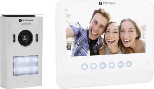 smartwares dic 22212 video t rsprechanlage 2 draht komplett set 1 familienhaus silber wei kaufen. Black Bedroom Furniture Sets. Home Design Ideas
