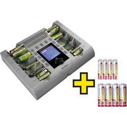 Nabíječka akumulátorů vč. akumulátorů VOLTCRAFT, NiCd, NiMH, NiZn AAA, AA, malé mono, velké mono, 9 V
