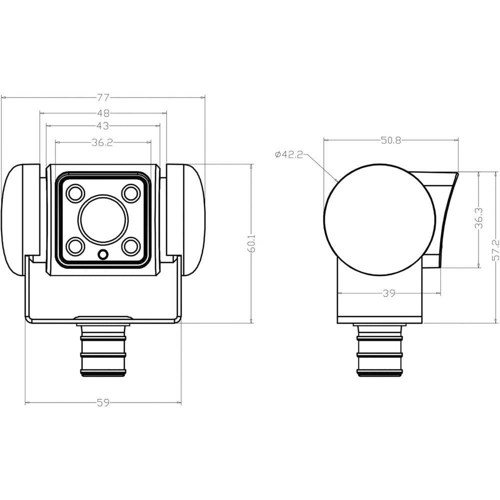 Kabel-Rückfahrkamera PerfectView CAM 45 NAV Dometic Group ...
