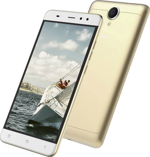 STK Transporter 1 Smartphone Single-SIM 8 GB 14 cm (5.5 Zoll) 8 Mio. Pixel Android™ 6.0 Marshmallow Gold