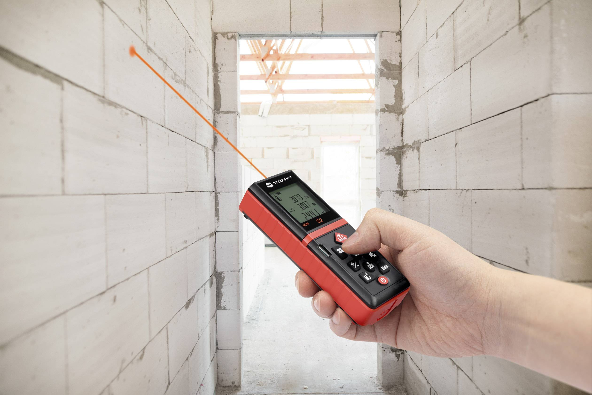 Bosch Entfernungsmesser Wasserwaage : Toolcraft ldm laser entfernungsmesser messbereich max m
