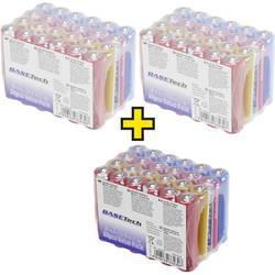 Mikrotužková batérie typu AAA alkalicko-mangánová Basetech 1170 mAh, 1.5 V, 72 ks