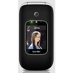 Beafon SL590 telefón pre seniorov - véčko nabíjacej stanice, tlačidlo SOS čierna, strieborná