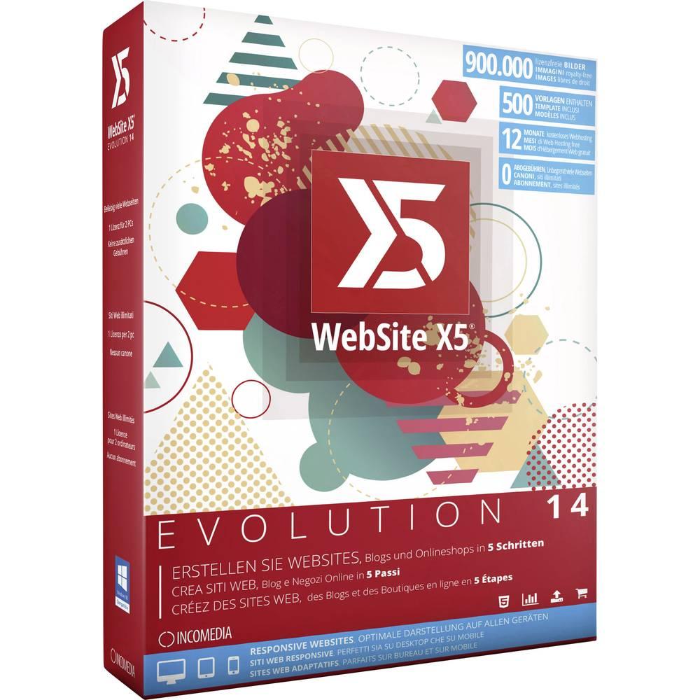 Incomedia WebSite X5 Evolution 14 Full version, 2 licenses Windows ...