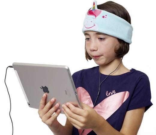 Kinder Kopfhörer Snuggly Rascals Unicorn On Ear Lautstärkebegrenzung, Stirnband Türkis