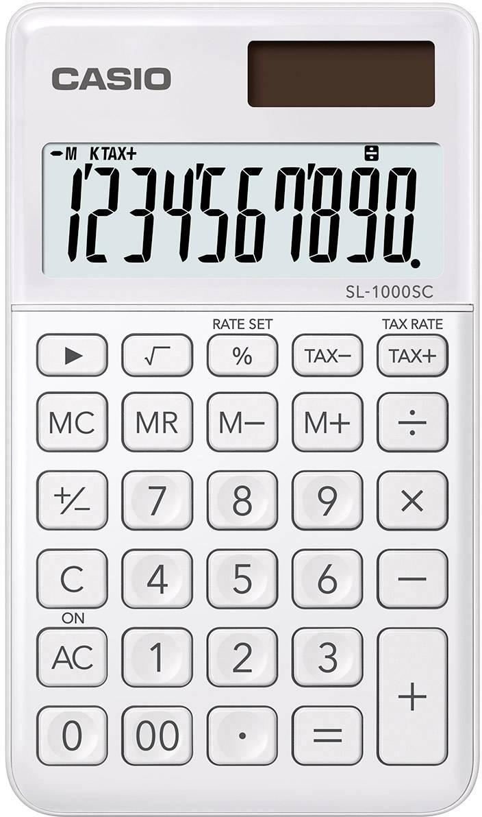 19 x 10 x 1,2 cm weiß Taschenrechner mit Standardfunktionen